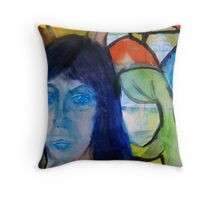 Behind Fences Throw Pillow