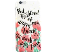 Red & Black iPhone Case/Skin