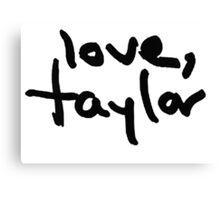 Love, Taylor Canvas Print