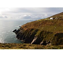Irish cliffs and ocean view Photographic Print