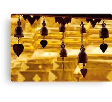 Temple bells, Wat Doi Suthep, Thailand Canvas Print