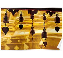 Temple bells, Wat Doi Suthep, Thailand Poster