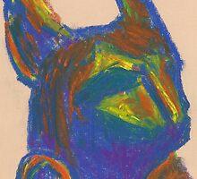 Bastet II (pastel) by Niki Hilsabeck