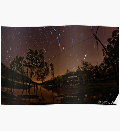 Star Trails in Ceceles Poster
