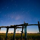 Straw Shed Moon Lit by Murray Wills