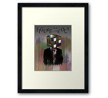 Figure Me Out Framed Print