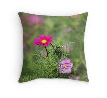 Winterbourne pink bokeh Throw Pillow