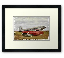 Red Cadillac Framed Print