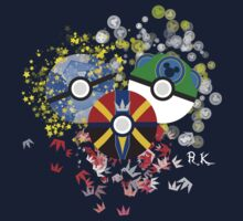 Kingdom Hearts Pokeball Baby Tee