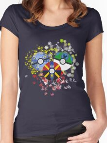 Kingdom Hearts Pokeball Women's Fitted Scoop T-Shirt