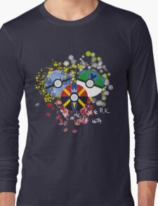 Kingdom Hearts Pokeball Long Sleeve T-Shirt