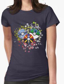 Kingdom Hearts Pokeball Womens Fitted T-Shirt