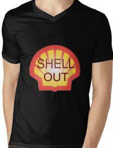 Shell Out !!! Mens V-Neck T-Shirt