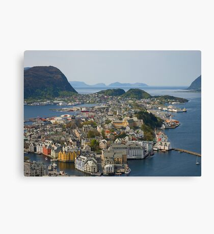 Beautiful city in Norway Canvas Print