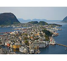 Beautiful city in Norway Photographic Print