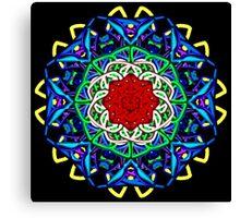 Wacky Lines Kaleidoscope Canvas Print