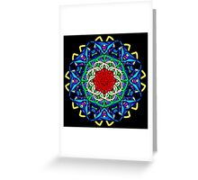 Wacky Lines Kaleidoscope Greeting Card