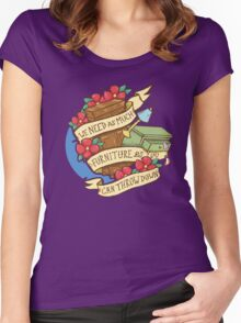 Courfeyrac line Women's Fitted Scoop T-Shirt