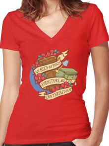 Courfeyrac line Women's Fitted V-Neck T-Shirt