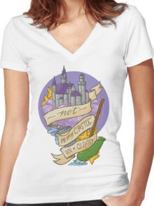 Not in my castle on a cloud Women's Fitted V-Neck T-Shirt