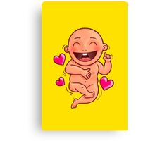 Laughing Baby Canvas Print