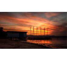 Long Jetty Boat Shed Photographic Print
