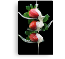 Forkfuls of Fancy Canvas Print