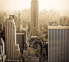 Empire State Building- New York by George Moolman