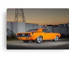 Orange 1970 Plymouth Barracuda Canvas Print