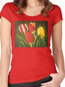 Tulip Time Women's Fitted Scoop T-Shirt