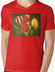 Tulip Time Mens V-Neck T-Shirt