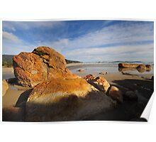 Painted rocks - Oberon Bay Poster