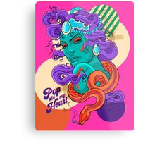 Pop ate my Heart Metal Print