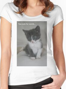 Too cute for words... Women's Fitted Scoop T-Shirt