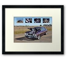 Supercharged 1970 Wild Violet Ford Falcon XY Framed Print