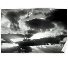 Filtered Black & White Sky Poster