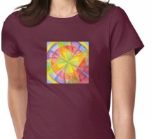 Colourful Circles Womens Fitted T-Shirt