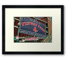 Fenway Pahk! Framed Print