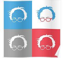 Retro Bernie Hair Shirt - Pop Art Pattern Poster