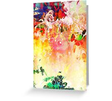 Colourful Abstract picture from the 90s Greeting Card