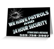 Patrols Greeting Card