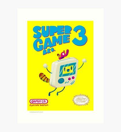 Super Game Bro 3 Art Print