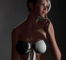Millie in White by Sandra Bauser Digital Art