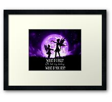 What if I Fall? Oh, but my darling what if you fly? Framed Print