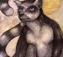 Illuminated Lemur by Lynnette Shelley