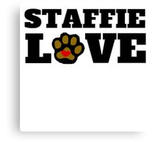 Staffie Love Canvas Print