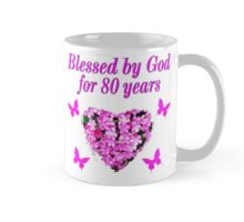PINK WILDFLOWER BLESSED BY GOD 80TH BIRTHDAY Mug