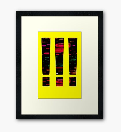 Mask our Dull Moments in False Excitement Framed Print