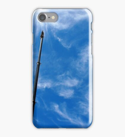 Upward view on the boom of a crane  iPhone Case/Skin