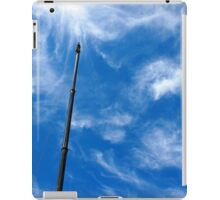 Upward view on the boom of a crane  iPad Case/Skin